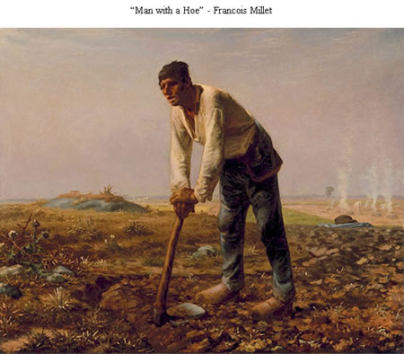 Man with a Hoe - Francois Millet